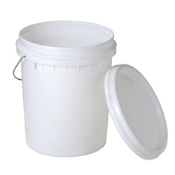 white Buckets/Pails Polyethylene Containers